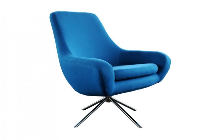 Fauteuil Noomi bleu imperial - Location Fauteuil design - Susanne ...