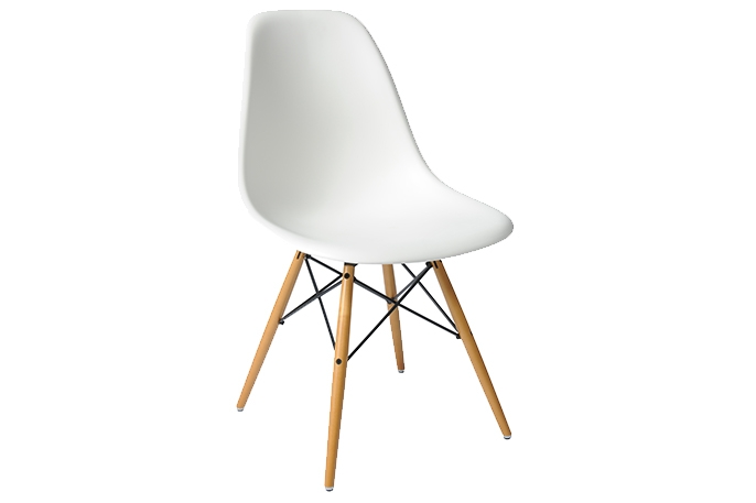 Chaise dsw blanche location chaise design charles for Chaise design dsw blanche