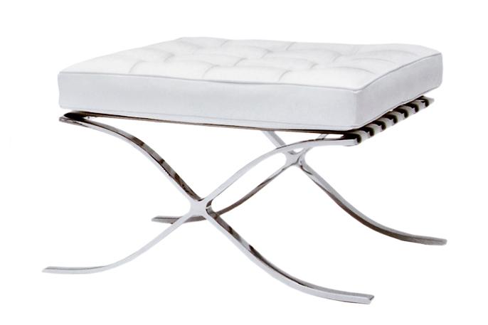 pouf barcelona blanc location pouf design mies van der. Black Bedroom Furniture Sets. Home Design Ideas