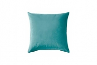 Coussin Carré Turquoise Velours