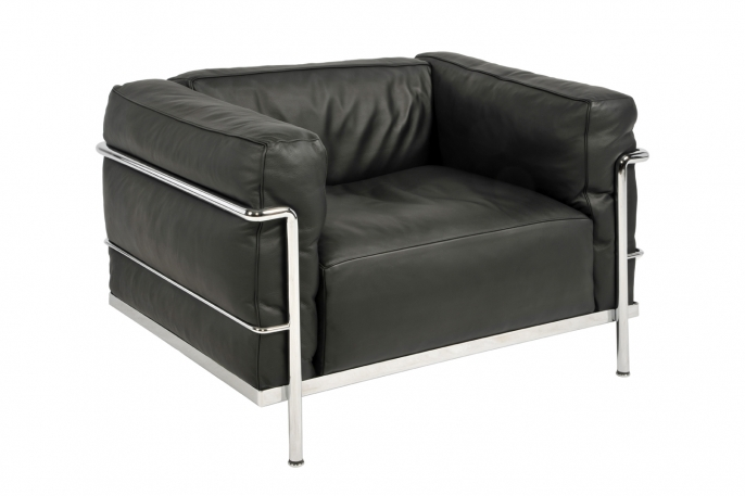 fauteuil lc3 location fauteuil design le corbusier. Black Bedroom Furniture Sets. Home Design Ideas