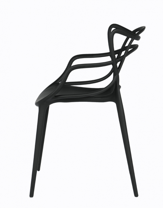 chaise masters noire location chaise design philippe starck eugeni quitllet vachon. Black Bedroom Furniture Sets. Home Design Ideas