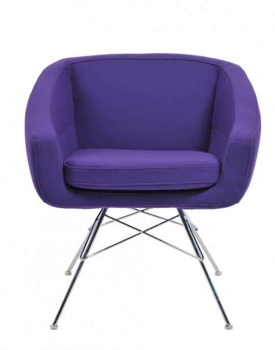 Fauteuil aiko violet location fauteuil design susanne gronlund vachon d - Fauteuil design violet ...