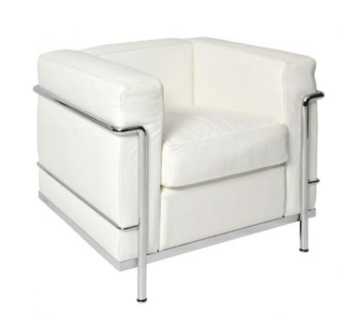 fauteuil lc2 blanc location fauteuil design le corbusier vachon d coration. Black Bedroom Furniture Sets. Home Design Ideas